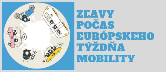 Zľavy a Európsky týždeň mobility
