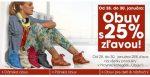 25% zľava na obuv
