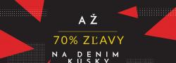 Až 70 % zľavy na Denim kúsky